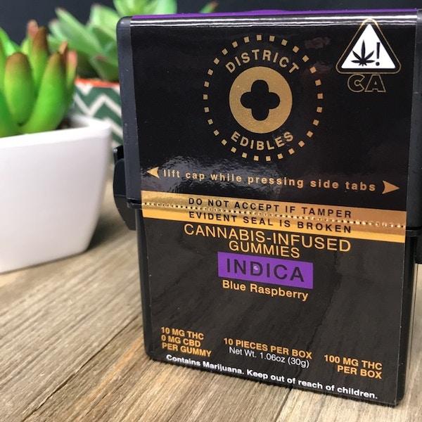 District Edibles Indica Abatin Wellness Center Medical Marijuana Menu Medicinal Cannabis Pot Weed Directory