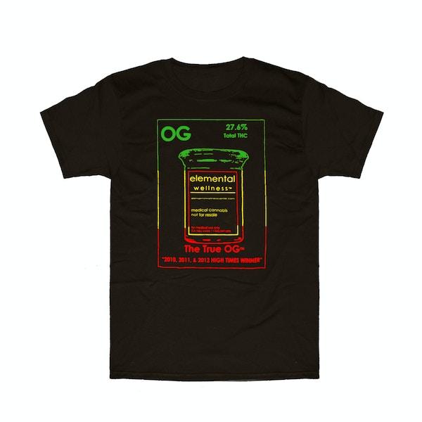 c3ed634eaebcca The True OG T-shirt Rasta - Elemental Wellness - Medical Marijuana Menu
