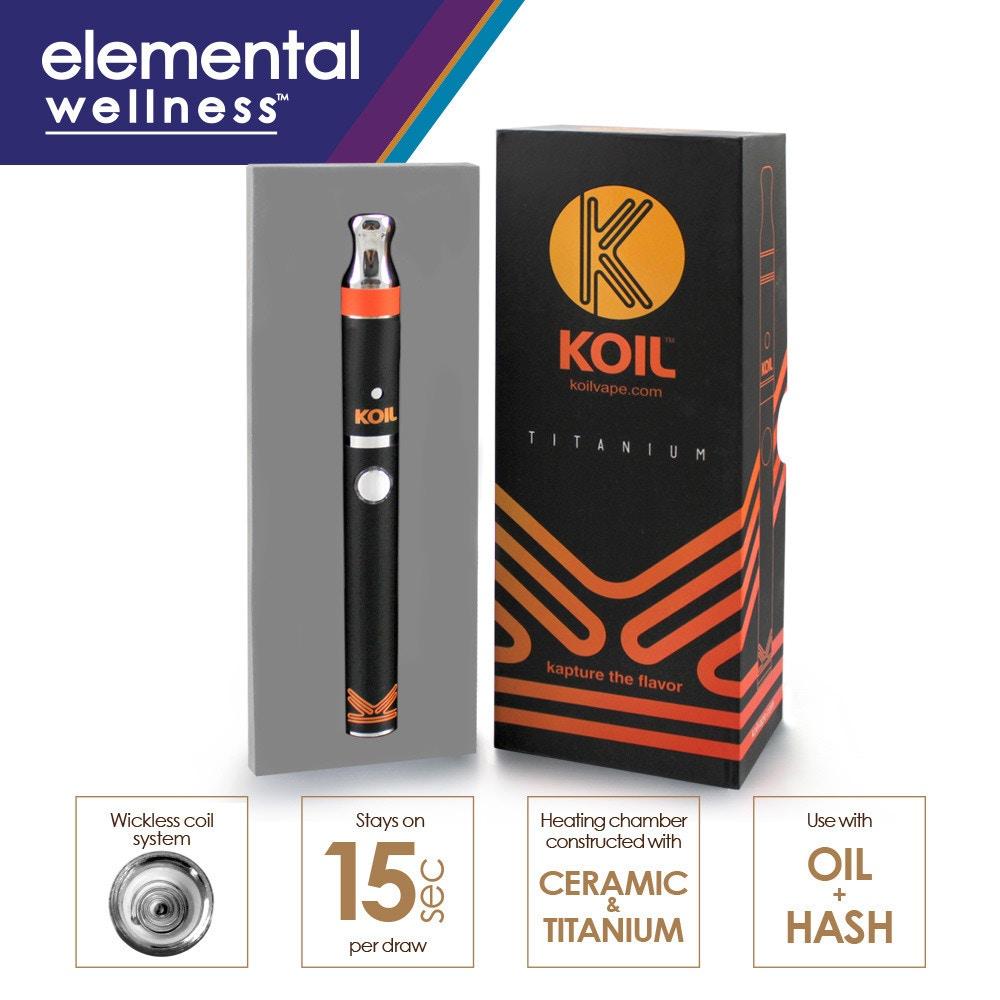 KOIL Vaporizer Pen Kit - Elemental Wellness - Medical Marijuana Menu